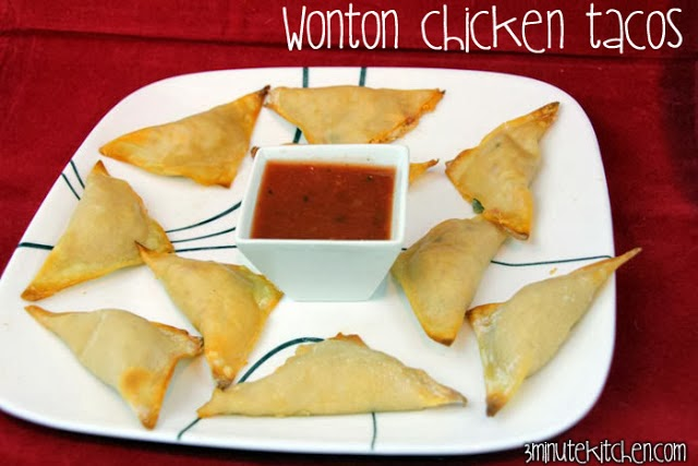 Won Ton Chicken Tacos