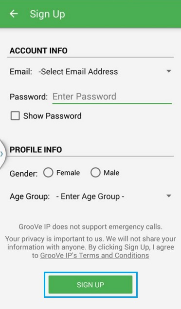 تطبيق GrooVe IP