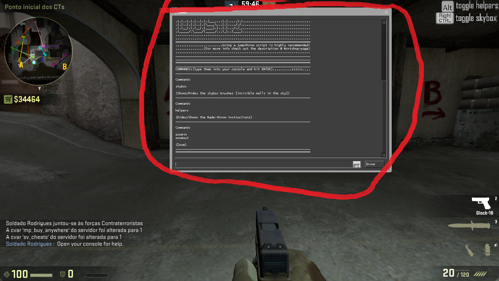 how to remove hud in cs go demo