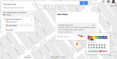 menambahkan lokasi urusan ekonomi di Google Maps
