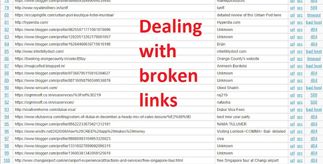 blog broken links