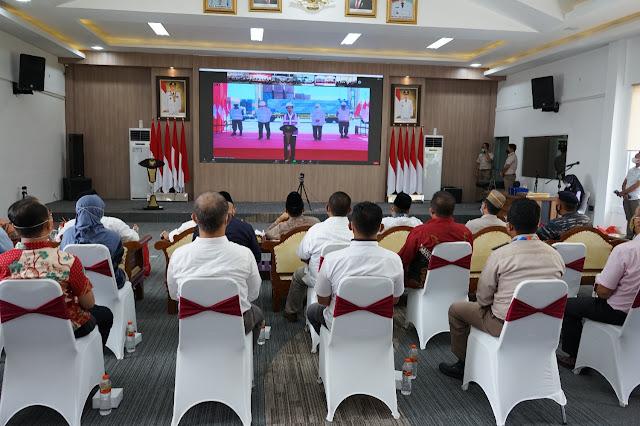 Presiden Meresmikan Pelepasan Merdeka Ekspor Pertanian 2021 Secara Virtual dari 17 Titik dan Bandara se Indonesia