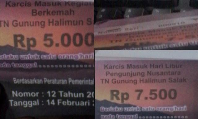 Tiket Taman Naional Halimun Salak