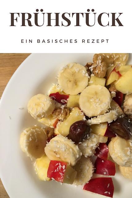 Rezept für ein basisches Frühstück mit Banane und Apfel