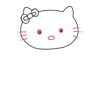 hello kitty drawing face