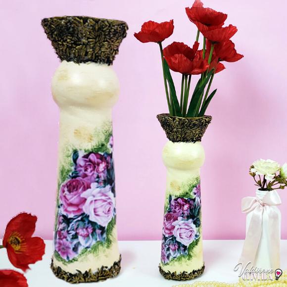 faca você mesmo Vasos decorativos de material reciclado