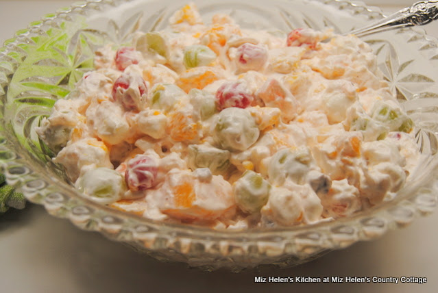Retro Ambrosia Salad at Miz Helen's Country Cottage