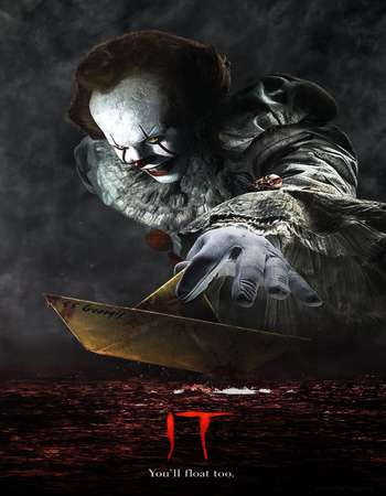 Poster Of It 2017 Full Movie In Hindi Dubbed Download HD 100MB English Movie For Mobiles 3gp Mp4 HEVC Watch Online