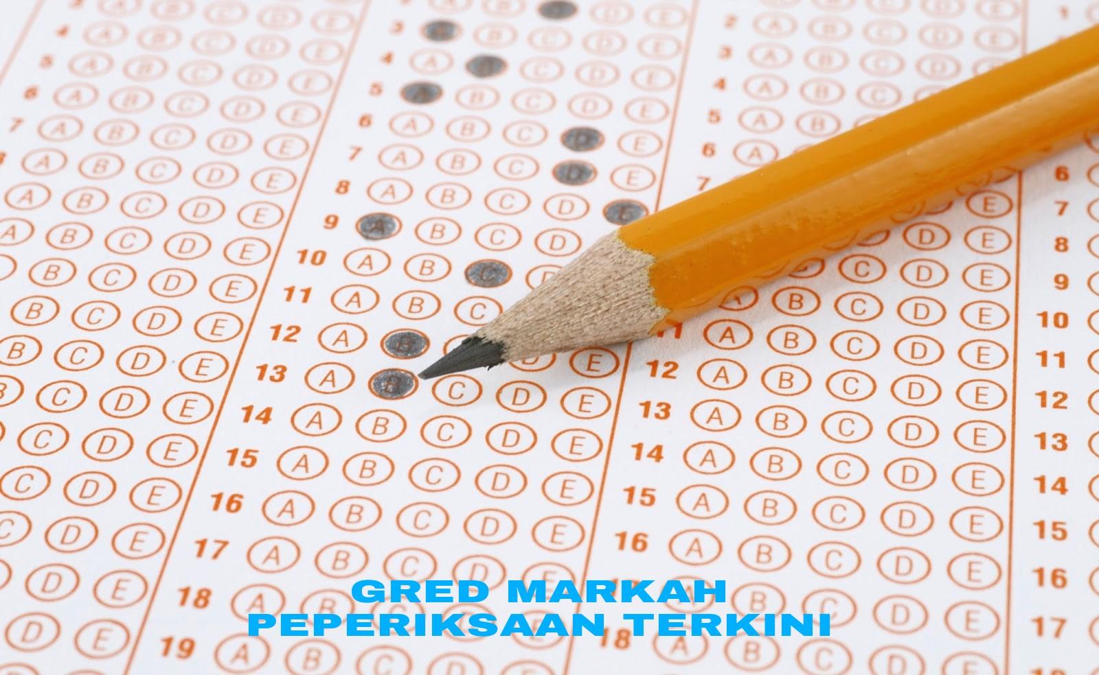 Gred Markah Peperiksaan UPSR, PT3 & SPM Terkini 2018