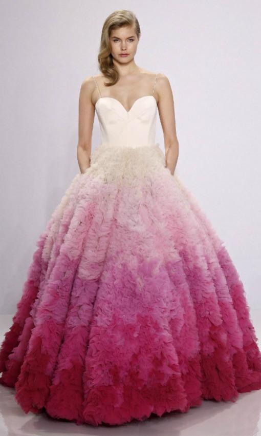 Vestido de novia bicicolor