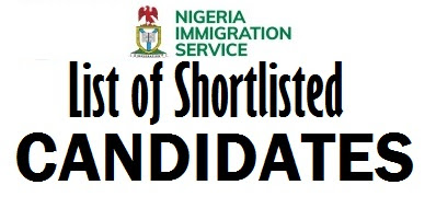 List of Successful Candidate for Nigeria Immigration Service 2017/2018