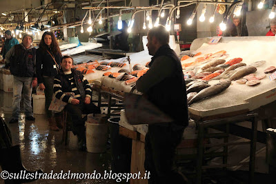 Atene Il mercato alimentare, reparto pesce