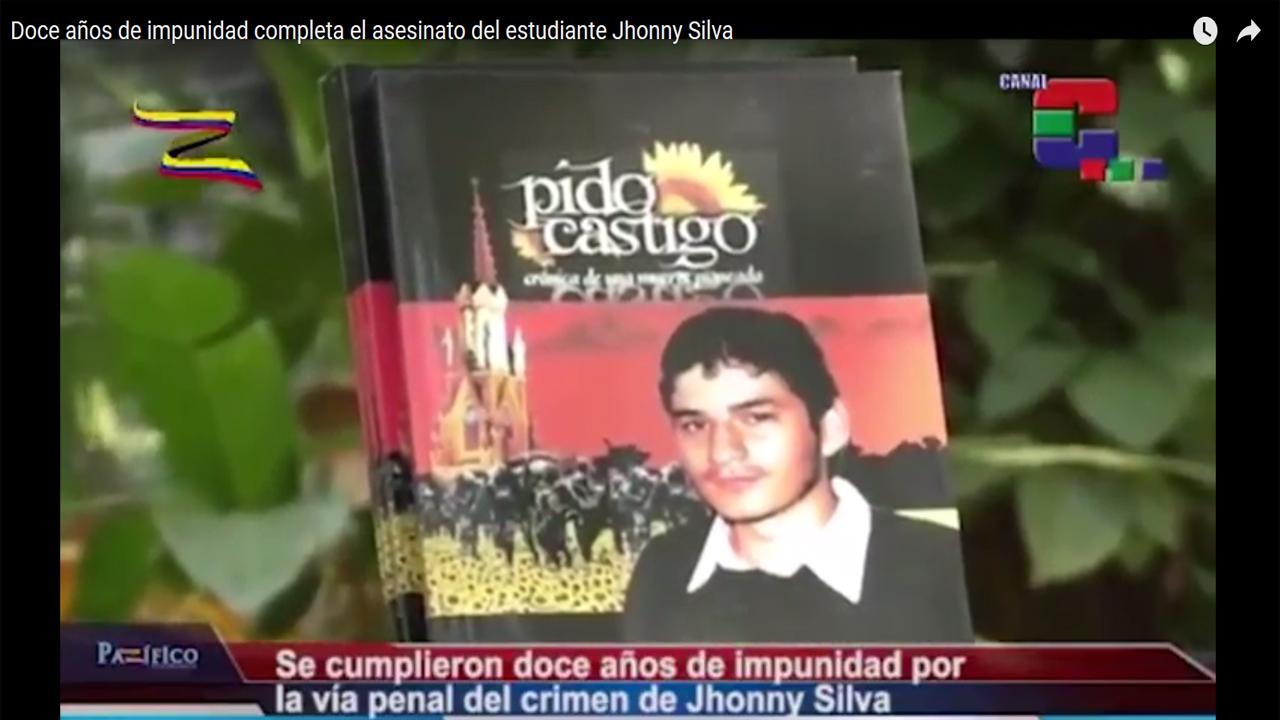 Doce años de impunidad completa el asesinato del estudiante Jhonny Silva