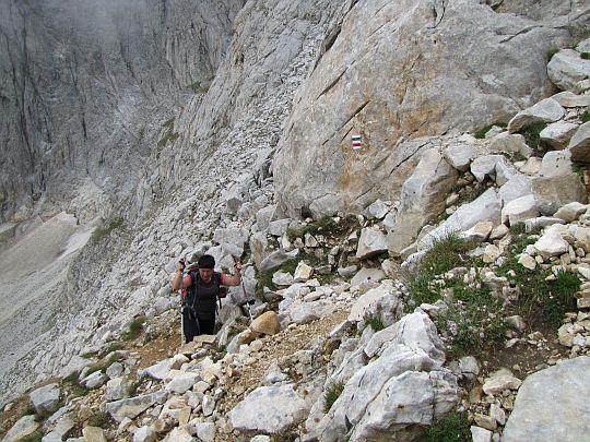 Pokonujemy skalny próg.