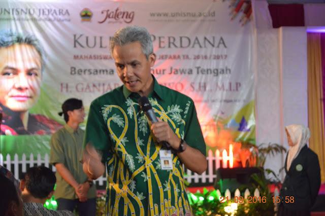 Ganjar Pranowo Berikan Kuliah Umum di Kampus UNISNU Jepara, lpm bursa