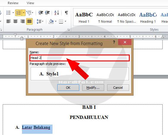 Cara Membuat Titik Daftar Isi Otomatis Di Word 2010