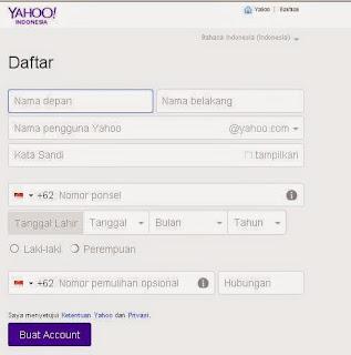 Cara Membuat Email Yahoo Baru Dengan Sangat Mudah
