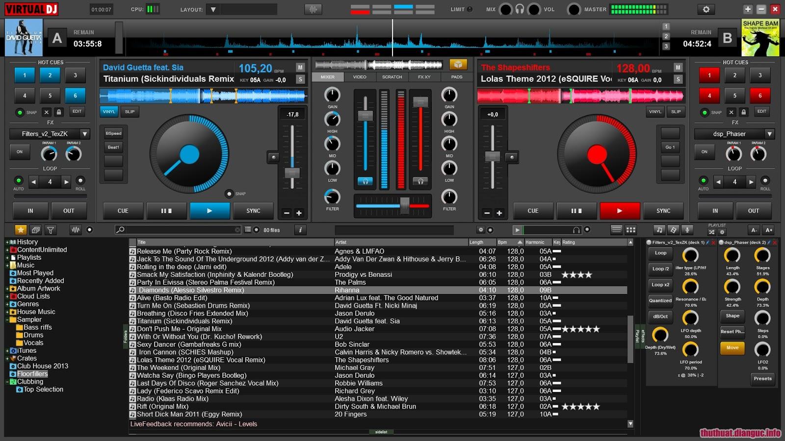 Download VirtualDJ PRO 8.2 Full Crack - Mix nhạc chuyên nghiệp