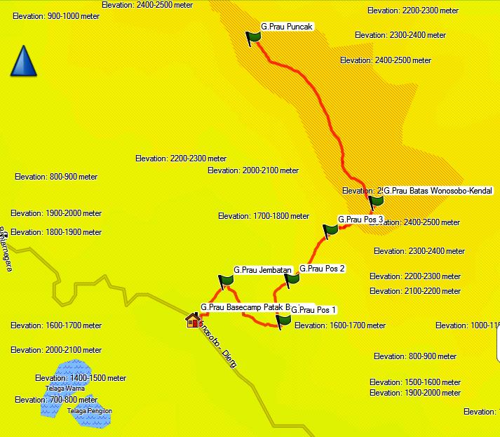 Tracklog Gps Jalur Pendakian Gunung Prau Via Patak Banteng Dieng Santri Dan Alam