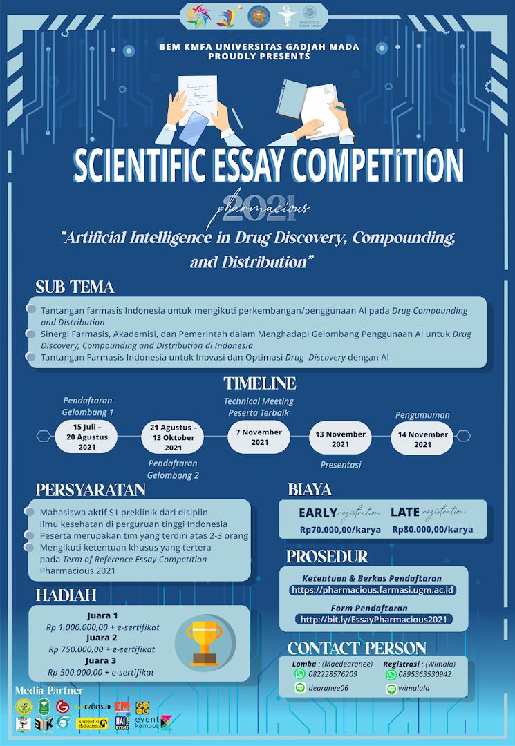 PHARMACIOUS UGM 2021: Essay Competition
