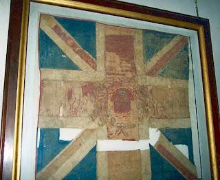 Bandera capturada a los ingleses en la Reconquista de Buenos Ayres. Iglesia de Santo Domingo, Buenos Ayres.