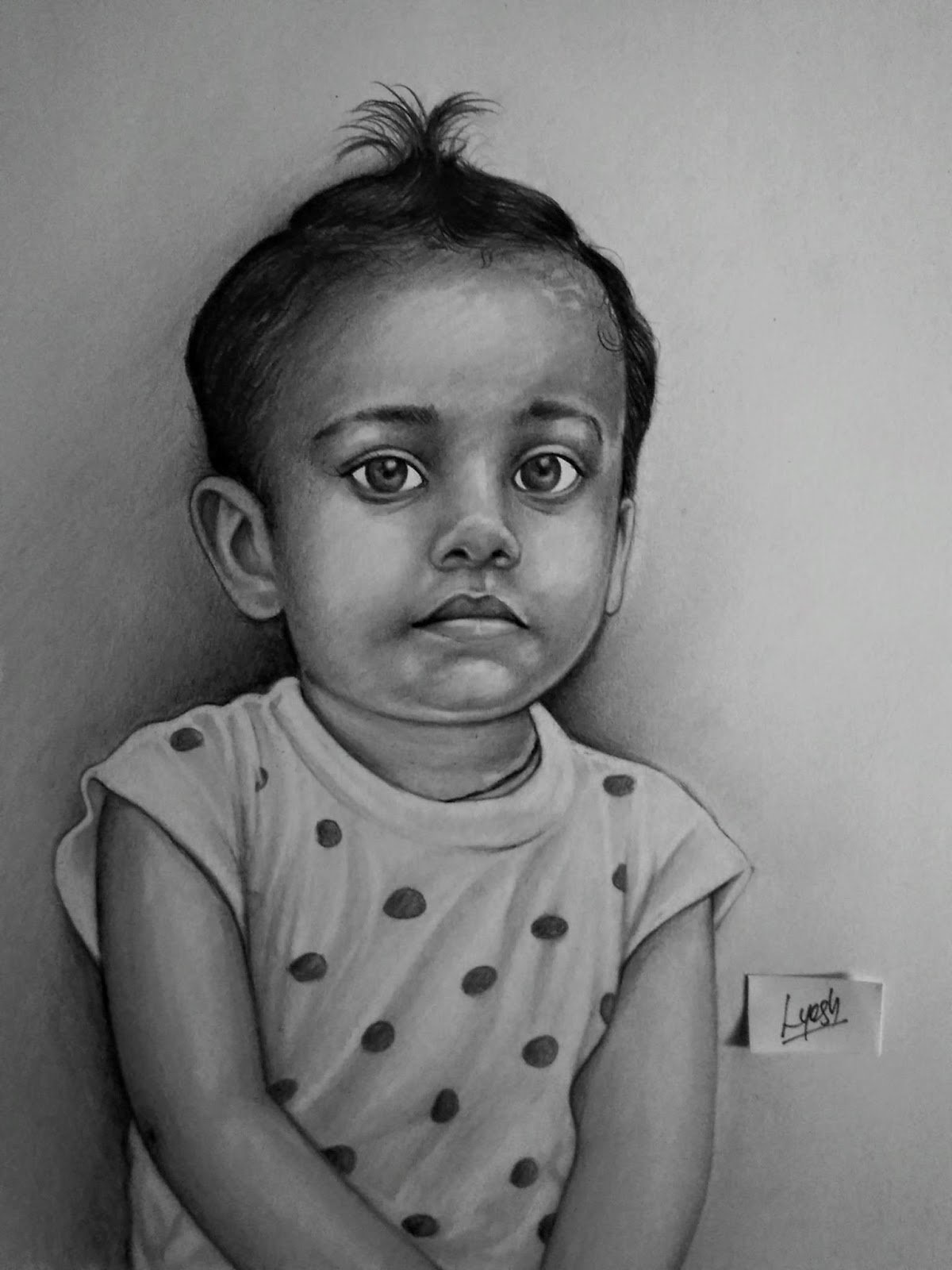 pencil drawing of a baby