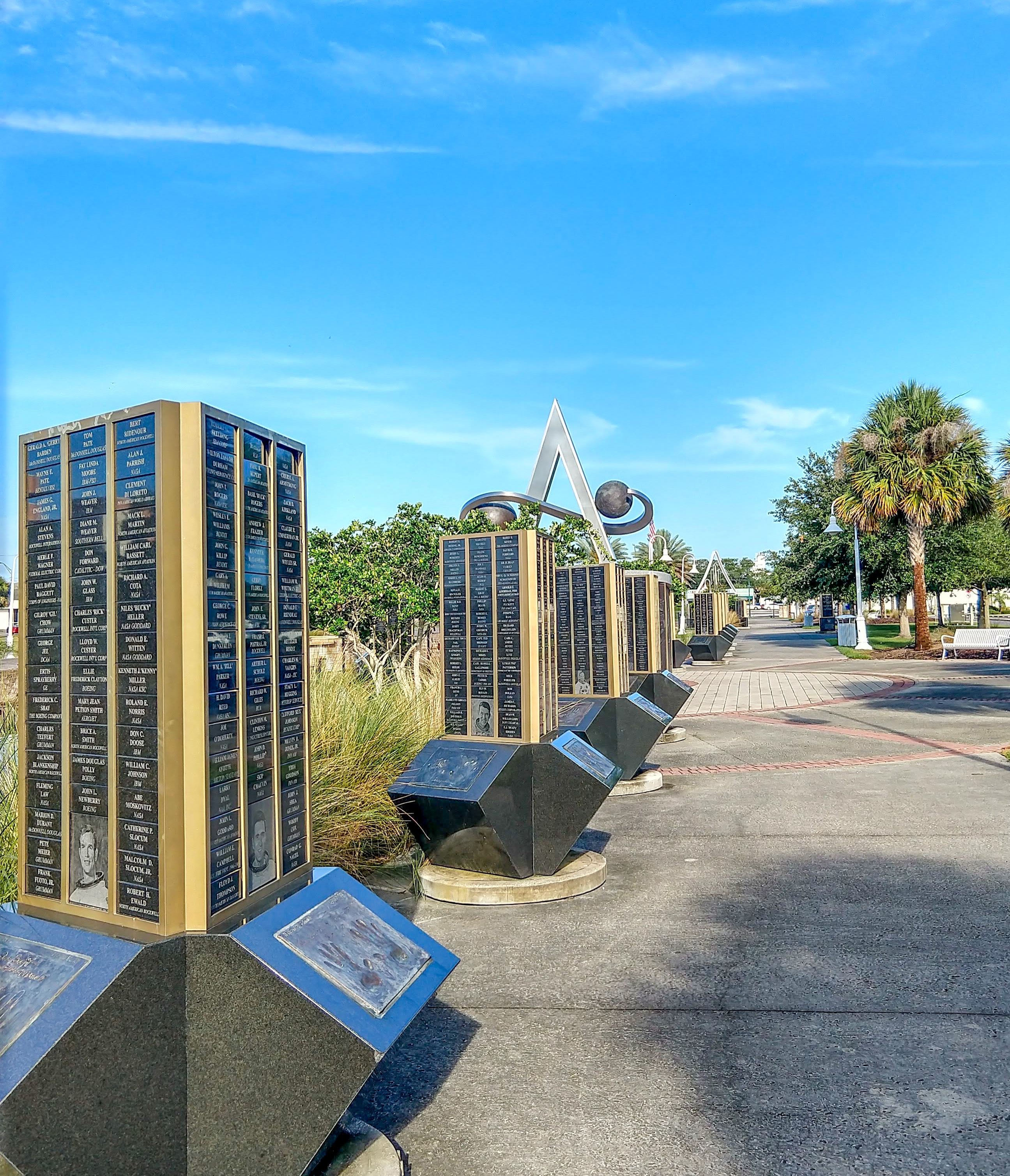 titusville, astronaut, walk of fame, space view, park