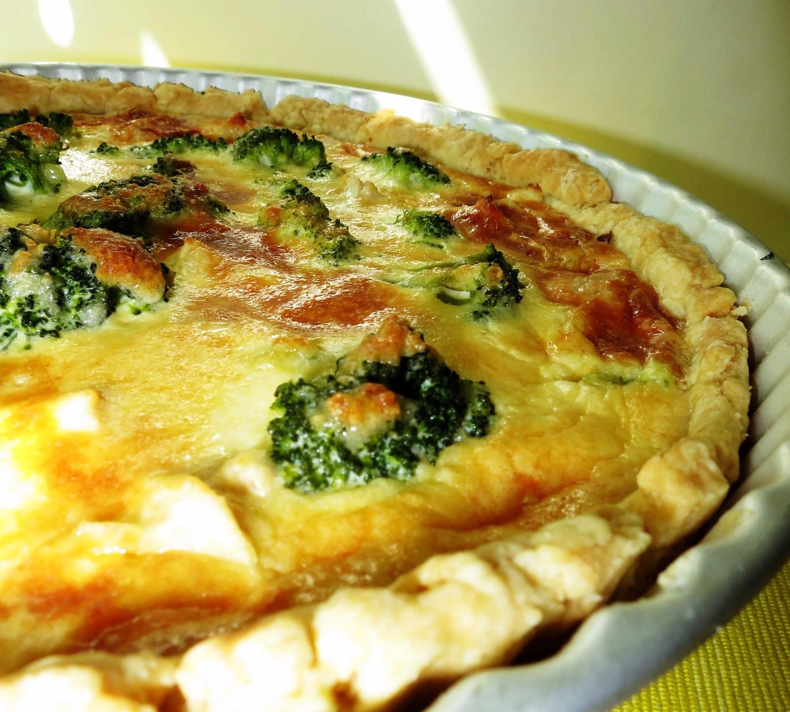 Открытый пирог «Киш лорен» с курицей и грибами картинки