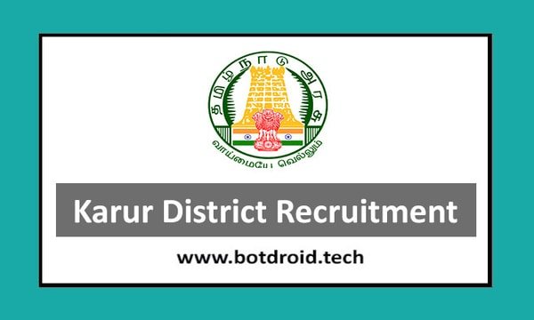 Karur District Recruitment 2020, Apply for Organizers & Cook Assistant Vacancies