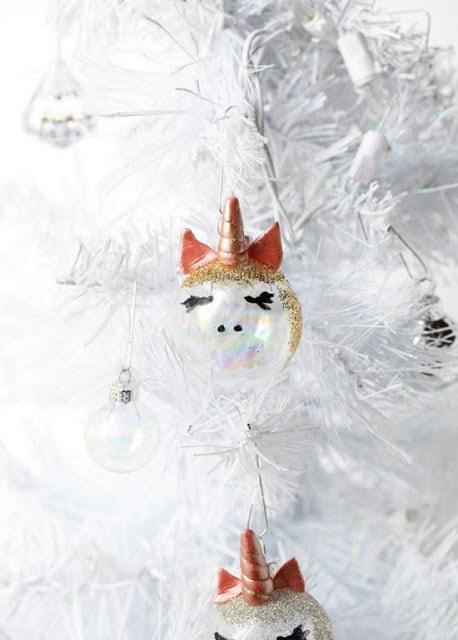 How to make a DIY unicorn christmas ornament craft