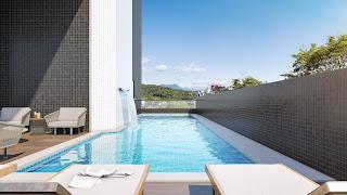 piscina externa Villa Traful Residencial