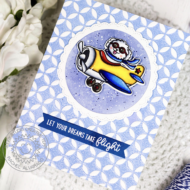 Sunny Studio Stamps: Plane Awesome Fancy Frames Card by Rachel Alvarado