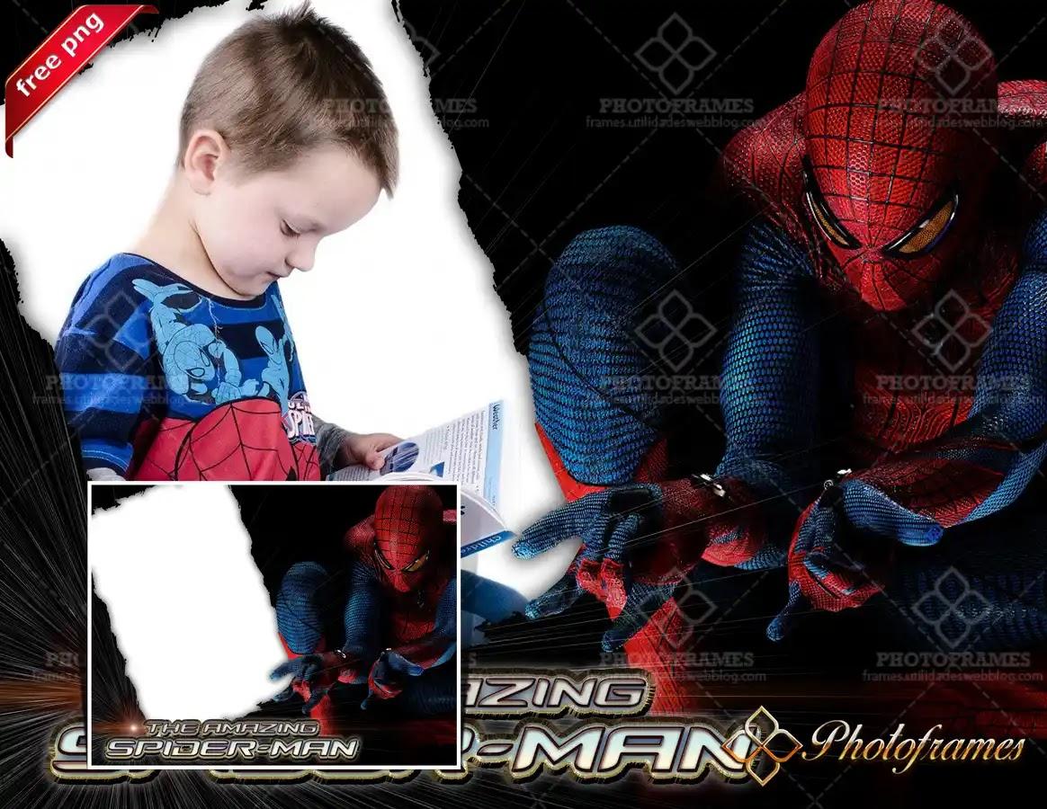 Marco digital para fotos inspirado en El Sorprendente Hombre Araña