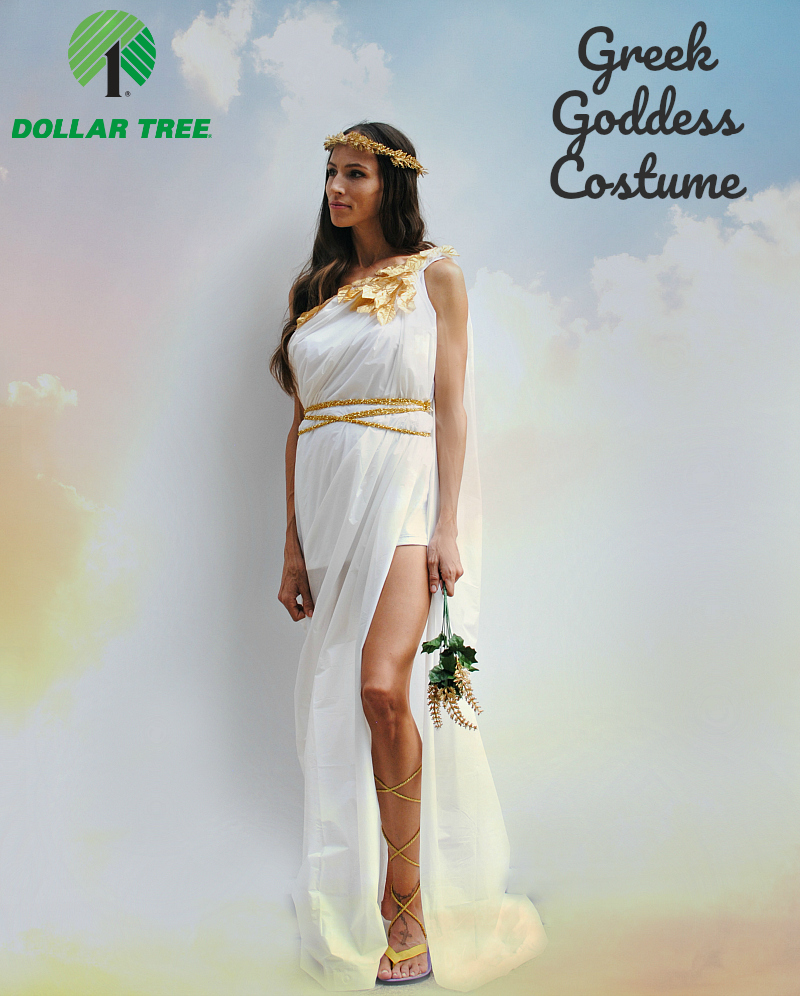 trash to couture: a dollar tree halloween series: greek goddess costume