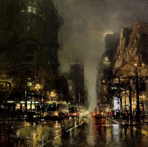 22-Crossing-Market-Jeremy-Mann-Figurative-Painting-in-Cityscapes-Oil-Paintings-www-designstack-co