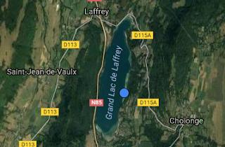 karper vissen Lac de Laffey in Frankrijk