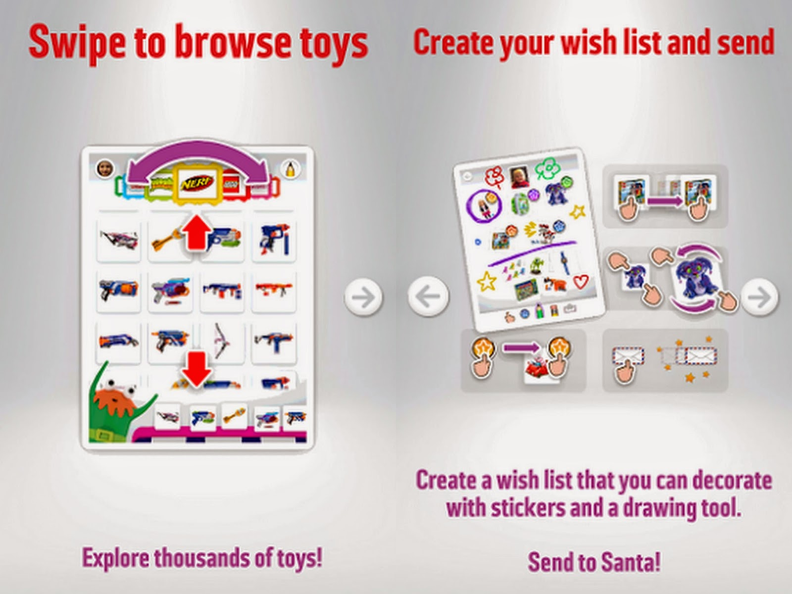 Example of Argos wish list app.  pages - information on use