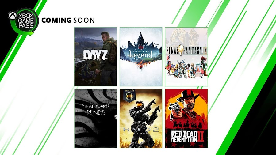 xbox game pass dayz endless legend final fantasy 9 fractured minds halo 2 anniversary red dead redemption 2 xb1 2020