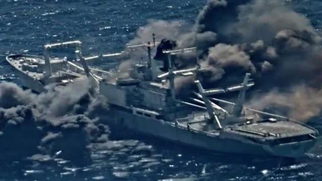 Ngeri, Kapal Perang Angkatan Laut AS Hancur Dihantam 4 Rudal