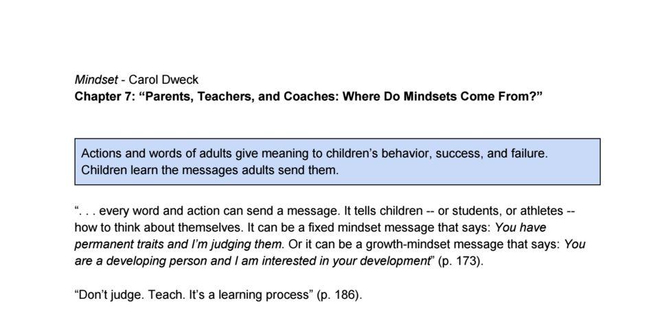 mindset carol dweck summary pdf
