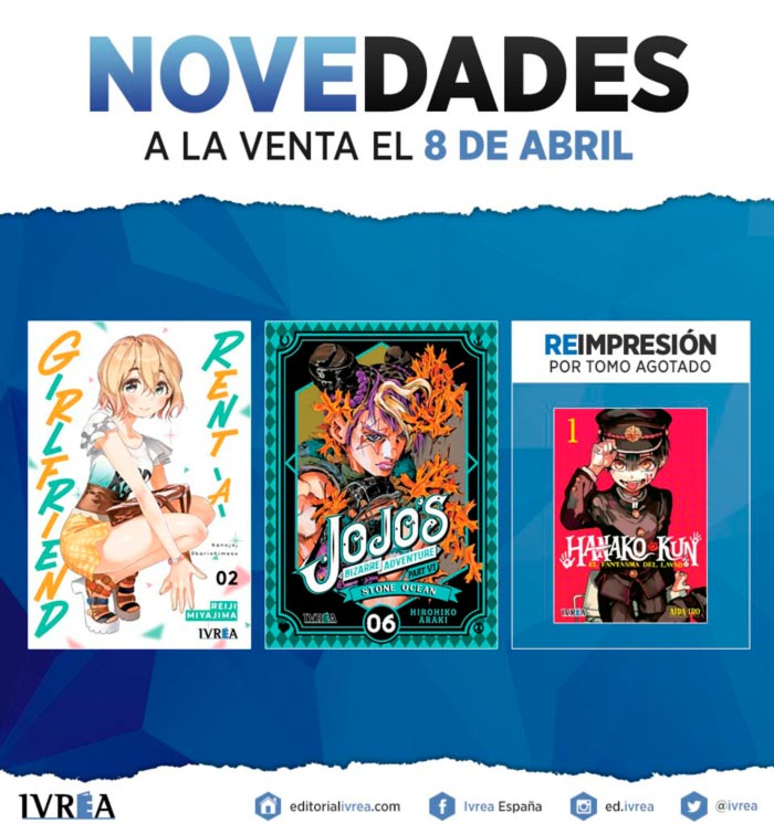 Novedades Ivrea 8 de abril 2021 - manga