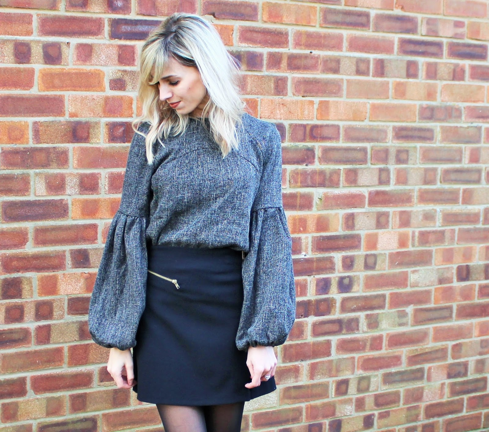 OOTD featuring Shein Balloon Sleeve Top, Topshop Mini Skirt and Zara Ankle Boots - 4