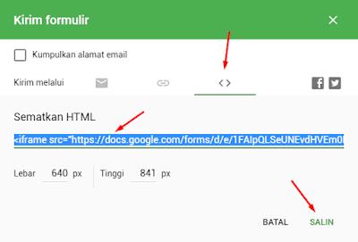 Membuat Contact Page dengan Google Forms