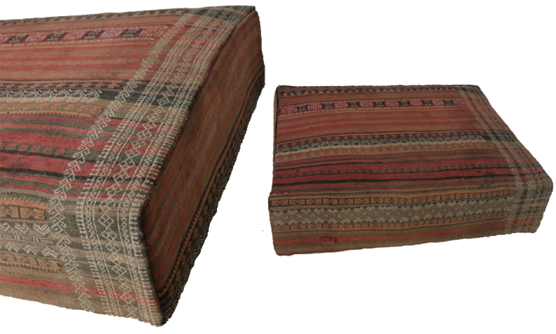 Vintage Kilim Rug Ottoman - one of a kind - via i gigi General Store - as featured on linenandlavender.net - http://www.linenandlavender.net/2014/01/source-sharing-i-gigi-general-store-uk.html