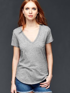 Vintage Wash V-Neck Tee $4 (reg $25)