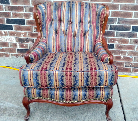 Queen Anne Wingback Chair (Oklahoma City Craigslist Garage Sales) $75