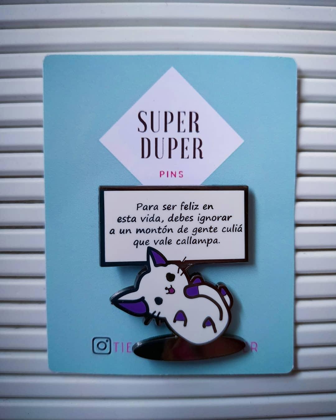 Colaboración con Gatos Qls para Super Duper pins ilustrados