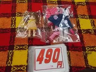 中古品のみきちゃん人形とりかちゃんの衣装セットは490円です。