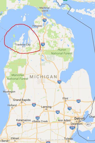 Cépage Et Cuisine November - Michigan wineries map