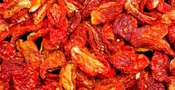 Tomates secos de microondas